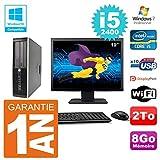 HP PC 6200 SFF Display 19 Zoll (48,3 cm) Intel i5-2400 RAM 8 GB Festplatte 2 TB DVD-Brenner WiFi W7