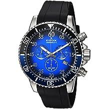 59bc880fd86d Edox Reloj Cronógrafo para Hombre de Cuarzo con Correa en Caucho  10227-3NBUCA-BUBN