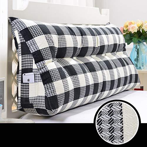 SJJOZZ Rückenlehne Einfache Bett Kopfkissen Bett Kissen Dreieck Doppel Rückenlehne Sofa Taille Große Kissen Nachahmung Hanf (Color : A, Size : 180cm) -
