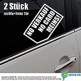 No Verkauf No Card Meins! Nix karte 2 Stück Autoaufkleber 5 x 8 cm konturgeschnitten decal Sticker