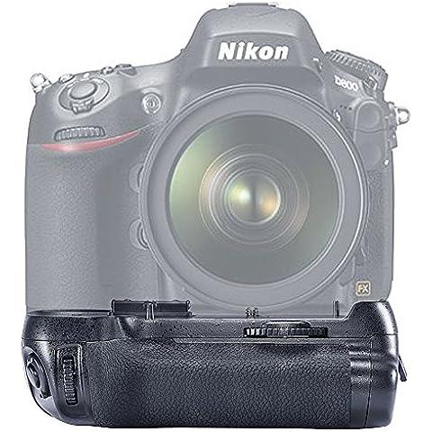 Neewer® Vertical empuñadura Apretón de batería Battery Grip reemplazo para Nikon MB-D12 Funciona con EN-EL15 Batería O Baterías 8AA para NIKON D800/D800E/D800S/D810 Digital SLR