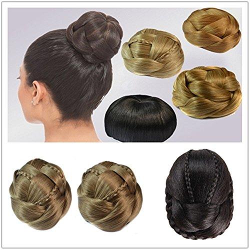 remeehi Haar/Antike Kostüm Braut Dedicated kurz für Haarknoten/Pferdeschwanz Haarteil geflochten Nadel für ()