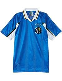 """Chelsea 1998 European Winners Cup Short Sleeve - Camiseta de equipación de fútbol para hombre, color azul, talla Size 18/L33 """""""