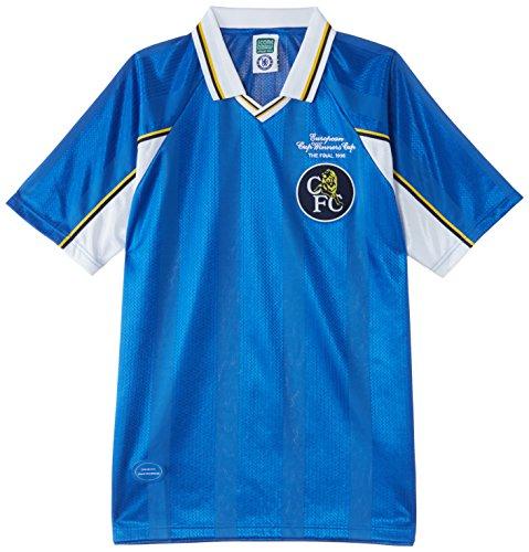 Chelsea - Maglietta a maniche corte, edizione: campioni europei 1998, Blu (blu), XL
