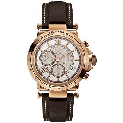 Guess X44001G1 - Reloj Cronógrafo Para Hombre, color Blanco/Marrón de Guess