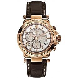 Guess X44001G1 - Reloj Cronógrafo Para Hombre, color Blanco/Marrón