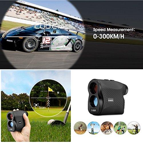 SUAOKI Télémètre Golf LR600P 656 Verges/600 Mètre Laser avec Flag-Lock/Précision de Distance 1m/Revêtement de Lentille/Bouton de Réglage Dioptrique (± 5D)/Niveau étanche IP 54