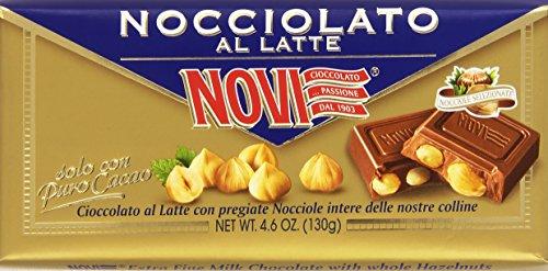 Milchschokolade Finissimo mit ganzen Haselnüssen. Die Nocciolato Novi,