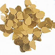 Embroiderymaterial Gota Patti Flowers Appliques Patches for Embroidery Decoration and Craft Making(Tear Drop Shape, 100 Gram)