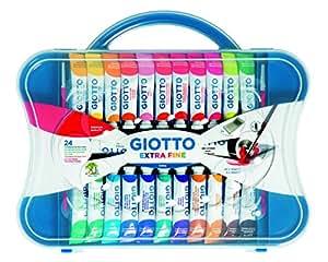 Giotto valigetta con 24 tubetti 12ml tempera extrafine + 2 pennelli