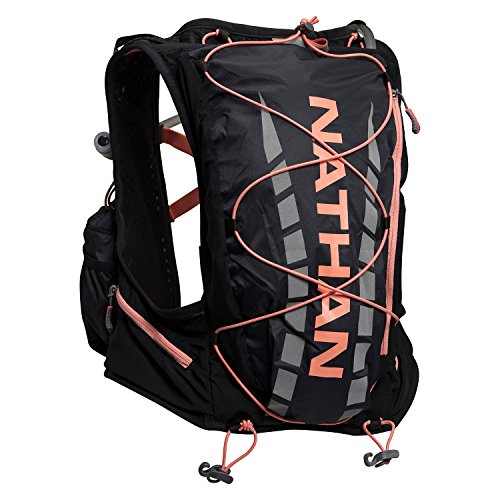 Nathan Damen Dampf airess Hydration Weste/pack-sparkling Cosmo, Small/Medium/31–91,4 cm, NS4527, BLACK/ FUSION CORAL (Coral-weste)