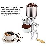 Zerone Mühle Getreidemühle, einstellbare Mahlwerk Mais Weizen Getreide Kaffee Nuss Mühle Brecher aus Gusseisen mit hohem Trichter für Küche zu Hause Silber
