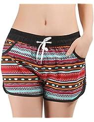 YueLian Amantes Verano Bohemia Casual Deportes Orilla del Mar Noviazgo Pairlook Pantalones Cortos de Playa (Talla 40, Hombre)