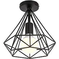 TOPDÉCORÉ Plafonnier Industrielle Retro en Métal design rétro lumière e27 max 40W,style industriel vintage,Idéal pour…
