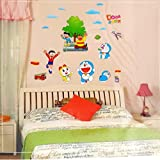 Ascent Wall Sticker For Kids Room|| Cartoon Wall Sticker || Doraemon Wall Sticker || Kids Wall Sticker || Sheet Size 60*90 CM