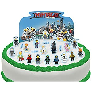 Vorgeschnittene und Essbare Lego Ninjago Szene Kuchen Topper (Tortenaufleger, Bedruckte Oblaten, Oblatenaufleger)
