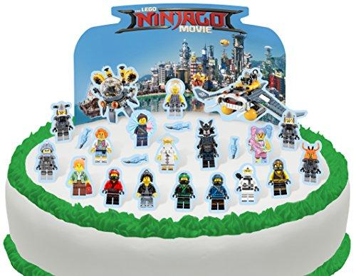 Essbare Lego Ninjago Szene Kuchen Topper (Tortenaufleger, Bedruckte Oblaten, Oblatenaufleger) ()