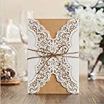 Material:Paper board Color: White For wedding invitations Royal looking cards