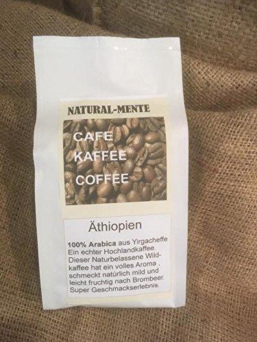 Natural Mente - Hochlandkaffee Äthiopien aus Yirgacheffe,Kaffeebohnen frisch...