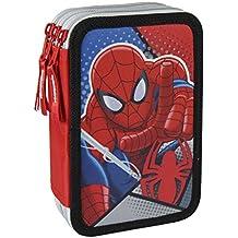 Estuche Plumier de Tres Pisos de Spiderman Original Giotto Hogar y Más