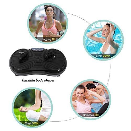 Tomasa Fitness Vibrationstrainer Ganzkörper Sport vibrationsplatte Training Vibrationsplatte (Typ2)