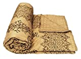 Shop Rajasthan Beige Floral Gold Print C...