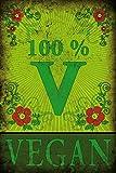 1art1 77976 Kochkunst - 100% Vegan Poster Kunstdruck 180 x 120 cm