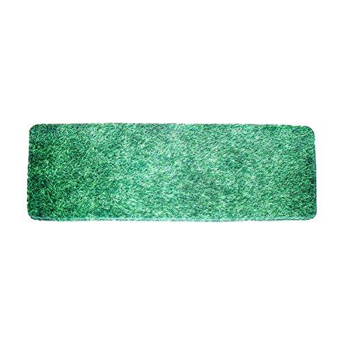 OUNONA Badteppich Bad Vorleger Rutschfeste teppich Küchematte Grünes Gras - Gras-teppich Badezimmer