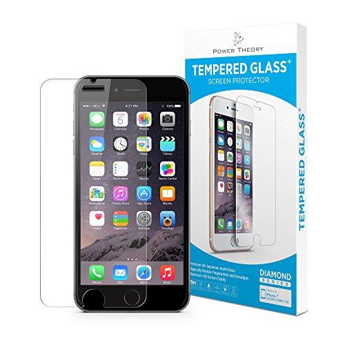 Power Theory iPhone 7/8 Schutzfolie - Japanisches 9H Panzerglas/Panzerglasfolie, HD Displayschutzfolie/Panzerfolie, Tempered Glas Schutzglas, Handy Folie 3D Hartglas, Screen Protector Glass