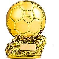 World Cup Fußball Trophäe Golden Ball Award Gewinner Trophäe Replica Galvanik Gold - Fans Fan Schriftzug Version,A