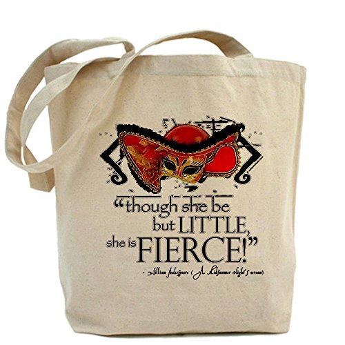 LVSURE Shakespeare Fierce Quote Tote Bag - Standard Multi-color Personalised Fabric Printed Tote Bag