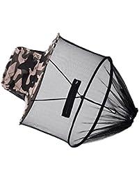 Anti Moustique Chapeau de Pêche en Toile avec Voile en Maille Protection de Cou Visage en Plein Air