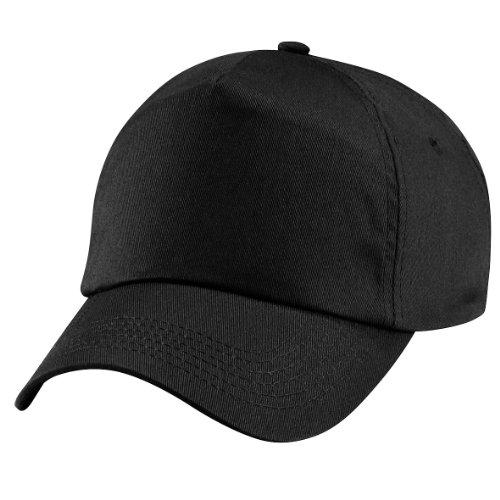 Beechfield - Casquette de Baseball 100% coton - Unisexe Noir