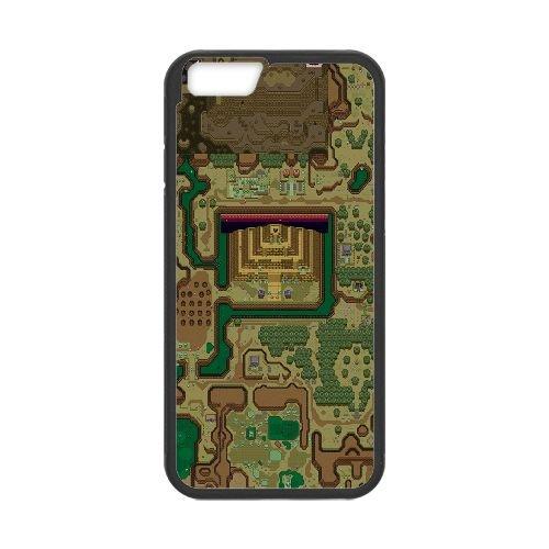Dark World Map The Legend Of Zelda A Link To The Past 3 33 coque iPhone 6 4.7 Inch Housse téléphone Noir de couverture de cas coque EBDXJKNBO15137