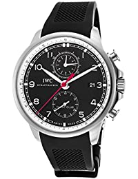 IWC PORTUGUESE 3902-10 GENTS BLACK RUBBER STAINLESS STEEL CASE AUTOMATIC WATCH