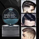 Gaddrt Sevich Homme Cheveux Huile Cire Cheveux Gel coiffant Solide Tenir Mat Fini Spray Cheveux