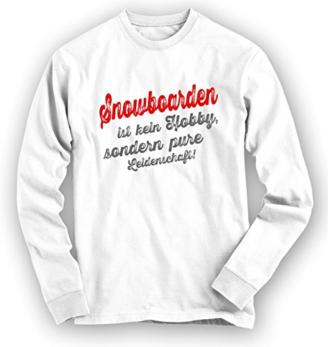 Snowboarden Sweatshirt | Snowboard-Pullover | Hobby | Leidenschaft | Unisex | Sweatshirts Weiß