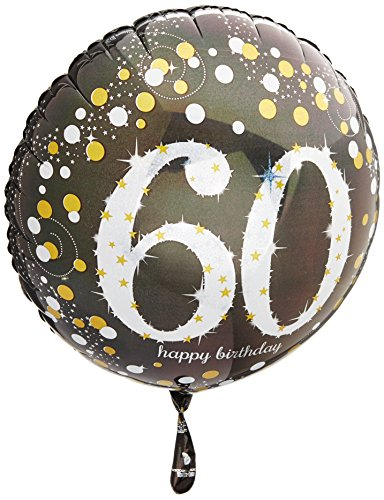 Amscan 3213201 - Globos de Papel de Aluminio para 60 cumpleaños