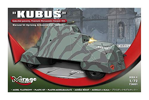 Mirage Hobby 724001-Maqueta de Cubo Warsaw 44Uprising Armoured Car