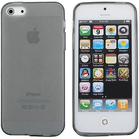 Cubierta de la caja colorida del gel de silicona a prueba de polvo suave del enchufe para el iPhone 5 5S.