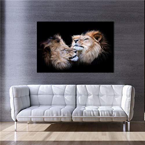 Leinwanddrucke, Modernen Afrika Dschungel Wild Animal Lion, Wand Kunst Bild Poster Drucken Home Einrichtung Kein Rahmen Für Büro, Küche, Schlafzimmer, Wohnzimmer, Flur, Shopping Mall, 20 × 25 Cm