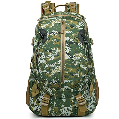 40L wasserdicht Tactical Military MOLLE Assault Rucksack groß Pack Rucksack für Camping Wandern Angeln Jagd Reisen und EDC Tagesrucksack Jungle digital