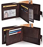 Eono Essentials Leather Wallets for Men with RFID-Leather Wallets for Men Slim Wallet