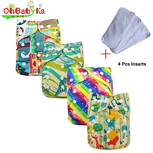 ohbabyka-resuable-unisex-baby-cloth-pocket-diapers-all-in-one-con-1pc-panno-morbido-interno