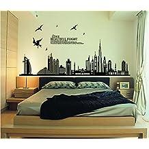 Stencil muro - Poster da parete per camera da letto ...