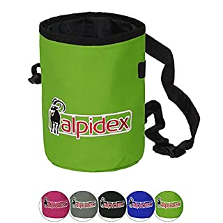 ALPIDEX Chalkbag Highfly including Hip Belt, Colour:Green Flash