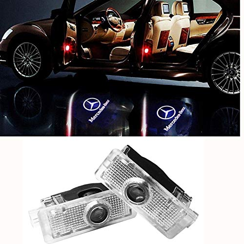 2 X Autotür LED Logo Projektion Licht Türbeleuchtung Willkommen Einstiegsbeleuchtung (CLA CLK CLS Tür Licht)