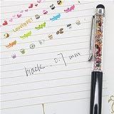 Vazan - 4Pcs couleur arc-en-nouvelle conception diamant stylo š€ bille 0.7mm...