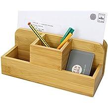 Bambou Officemate Organiseur Multimédia de Bureau, Pot à Crayons et Stylos