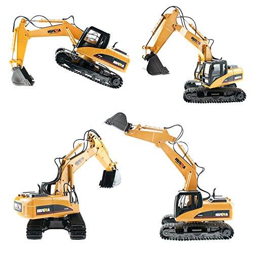RC Auto kaufen Baufahrzeug Bild 2: efaso 1:14 RC Bagger 1550 - 2,4 GHz Baustellenfahrzeug mit Licht und Sound, Schaufel aus Metall, Aufnahmemodus und umfangreichen Steuerungsmöglichkeiten*